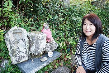 お地蔵様と黒岩真由美さん