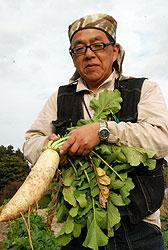 顔の見える関係に風評被害はない! 斉藤登さん(53)=福島県二本松市
