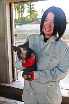 夢路~紅豚と共に歩む~ 濱田詩乃さん(18)=宮城・小牛田農林3年