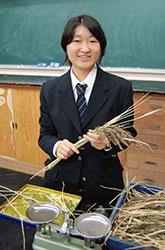 無農薬栽培を通して学んだこと 切江 美桜さん(16)=愛知・鶴城丘高校2年