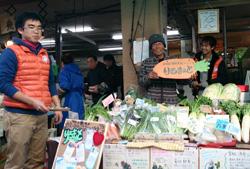 仙台駅前に設けた「若林区復興支援ショップりるまぁと」=仙台市で、ReRoots提供