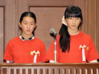 半田・亀崎小の生徒たち