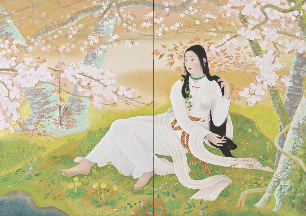 堂本印象「木華開耶媛」1929年、京都府立堂本印象美術館蔵