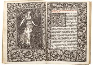 『世界のかなたの森』 ウイリアム・モリス 1894年 ケルムスコット・プレス刊