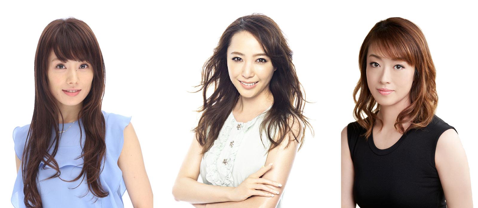 左から舞羽美海さん、貴城けいさん、北翔海莉さん