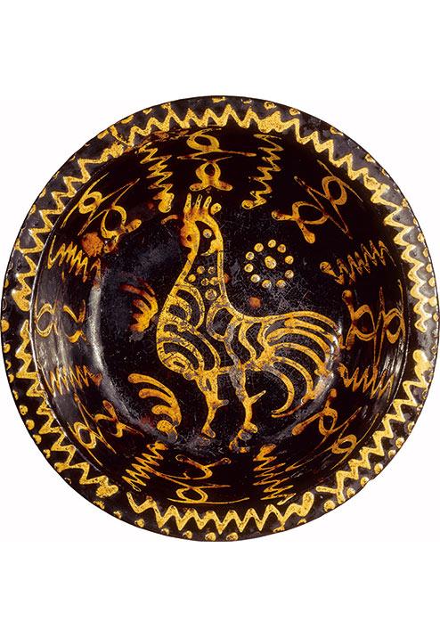 《スリップウェア鶏文鉢》 イギリス 18世紀後半 日本民藝館