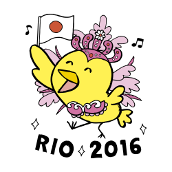 リオ2016なるほドリ「ピンク」